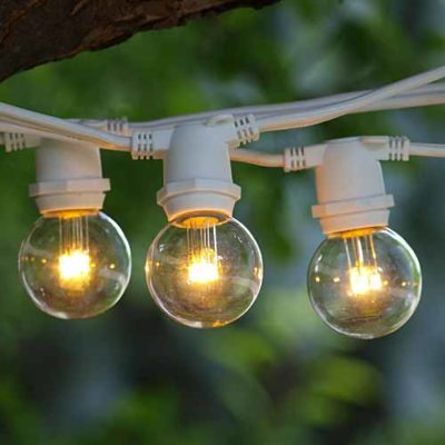 Rent a 25 Foot String - Small Globe Canopy Lights from Pasco Rentals!
