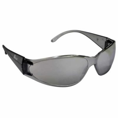 ERB Boas Safety Glasses with Smoke Frame and Silver Lens