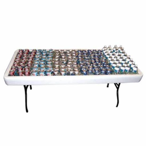 Rent a chill table that you can fill with drinks and ice!