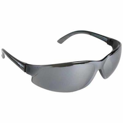 ERB Superb Safety Glasses with a Smoke Frame and Silver Mirror Lens